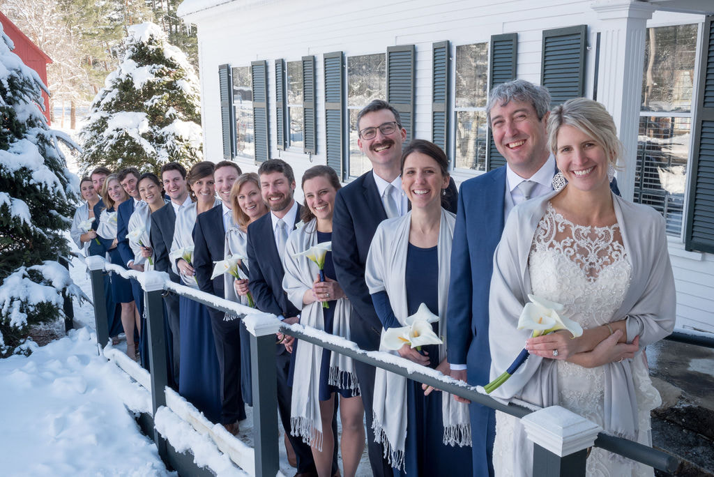 bridal party at Franconia Inn
